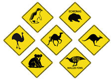 Australians Road Signs Royalty Free Stock Photo