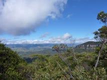 Горы сини Australias стоковые фотографии rf