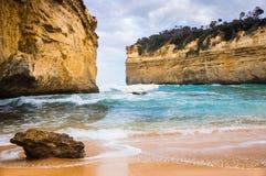Australias Southcoast, Victoria, tolv apostlar royaltyfri foto