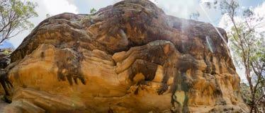 Australie blanche d'Ipswich de panorama de roche Photo libre de droits