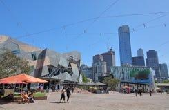 Australie carrée de Melbourne de fédération photo stock