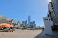Australie carrée de Melbourne de fédération photographie stock libre de droits
