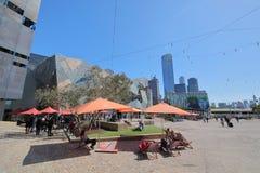 Australie carrée de Melbourne de fédération images libres de droits