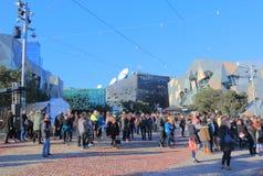 Australie carrée de Melbourne de fédération Photographie stock
