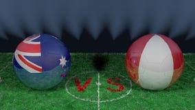 Australie contre le Pérou Coupe du monde 2018 de la FIFA Image 3D originale Photographie stock