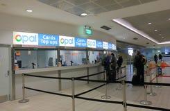 Australie d'aéroport de Sydney de billetterie de train de Sydney Image stock