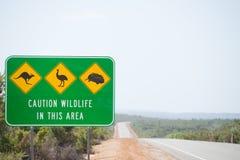 Australie d'avertissement de route de faune Photographie stock