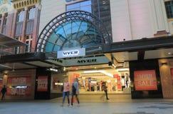 Australie de achat de Brisbane de magasin de Myer photo libre de droits