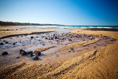 Australie de Bundaberg Queensland d'admission de plage de Repos de lundi images stock