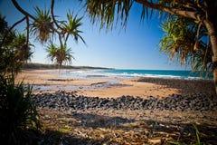 Australie de Bundaberg Queensland de plage de Repos de lundi photo libre de droits