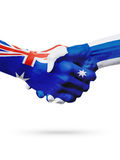 Australie de drapeaux, pays de la Finlande, amitié d'association, équipe de sports nationale Images stock