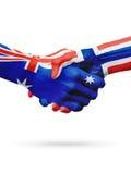 Australie de drapeaux, pays de la Norvège, amitié d'association, équipe de sports nationale Image stock