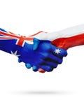 Australie de drapeaux, pays de République Tchèque, amitié d'association, équipe de sports nationale Images stock