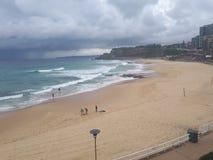 Australie de la plage NSW de Newcastle Photo stock