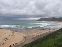 Australie de la plage NSW de Newcastle Image stock