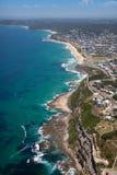 Australie de Newcastle de vue aérienne de Merewether de plage de barre Photo libre de droits