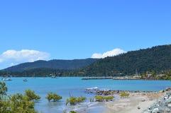 Australie de porte d'îles de Pentecôte de plage d'Airlie Photos stock