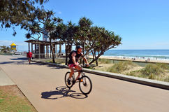 Australie du Queensland d'esplanade de paradis de surfers Images libres de droits