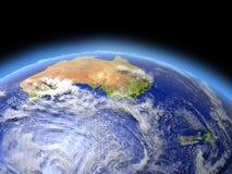 Australie et le Nouvelle-Zélande de l'espace illustration de vecteur
