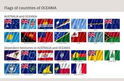 Australie et Océanie de drapeaux illustration de vecteur