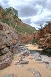 Australie, gorge d'Ormiston, Mac Donnell National Park occidental photographie stock libre de droits
