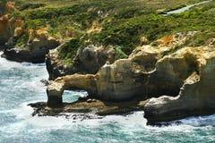 Australie, grande océan route de VIC, vue aérienne Photos libres de droits