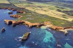 Australie, grande océan route de VIC, vue aérienne Photographie stock libre de droits