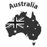 Australie, la carte de l'Australie illustration stock
