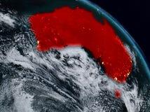 Australie la nuit illustration libre de droits