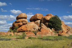 Australie, les marbres du diable Images libres de droits