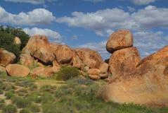 Australie, les marbres du diable Image stock