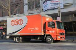 Australie logistique de voie de la livraison de TNT image stock