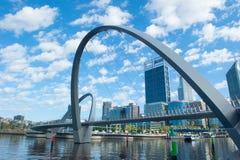 Australie occidentale de Perth d'horizon d'Elizabeth Quay Photographie stock libre de droits