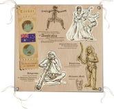 Australie - photos de la vie, Aboriginals illustration de vecteur