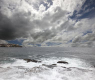 Australie - plage de mer de Tasman Photos libres de droits