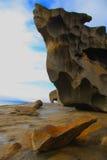 Australie remarquable d'île de kangourou de roches photo stock