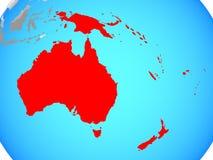 Australie sur la carte illustration stock