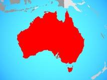 Australie sur la carte illustration libre de droits