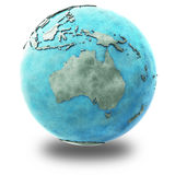 Australie sur la terre de marbre de planète Image stock