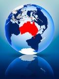 Australie sur le globe illustration libre de droits
