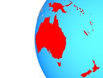 Australie sur le globe illustration de vecteur