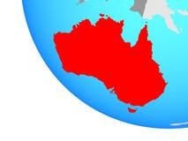 Australie sur le globe illustration stock