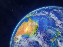 Australie sur terre illustration stock