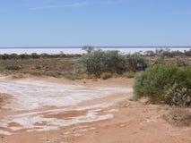 Australien à l'intérieur avec les lacs salins Image libre de droits