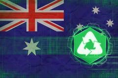 Australien återvinning många begreppsekologibilder mer min portfölj Arkivbilder