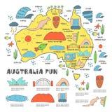 Australien översikt Royaltyfria Bilder