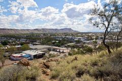 Australien, Alice Springs, Anzac Hill Lookout stockbilder
