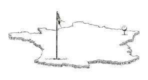 Australien als Golfloch Stockfotos