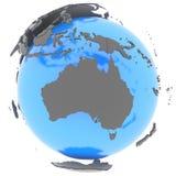 Australien auf Erde Stockbilder