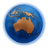 Australien auf hölzerner Erde Stockbilder